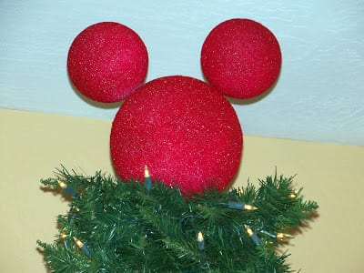 diy mickey mouse tree topper - Mickey Mouse Christmas Tree Topper