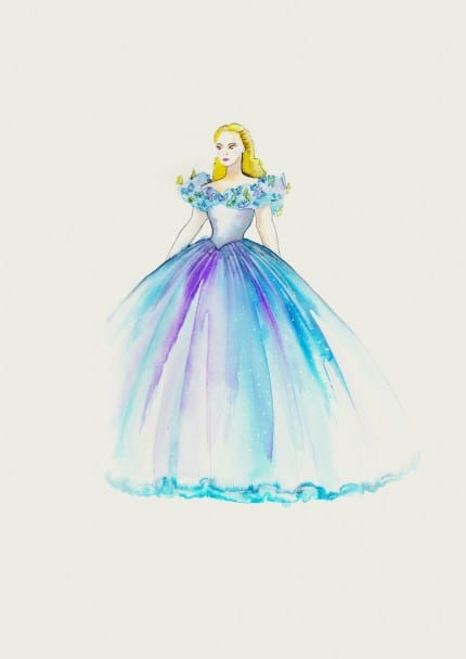 These Sketches Make Us Love the Costumes of Cinderella Even More 5