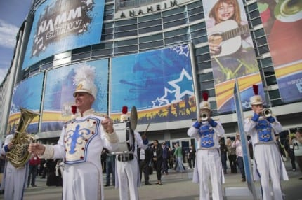 Disneyland Band Opens 2015 NAMM Show in Anaheim, California 32