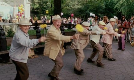 One of the men dancing in this shot appeared in Mary Poppins as a chimney sweep.
