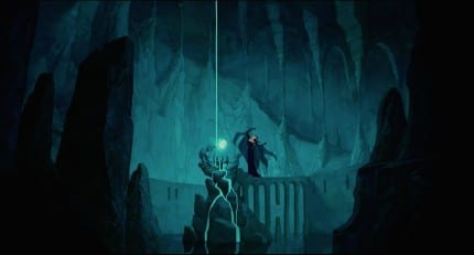 Narissa's lair is similar to Ursula's lair.