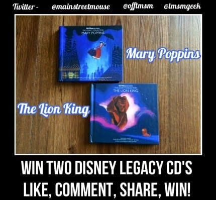 Win TWO Disney Legacy Collection Collectible CD's From TMSM! Mary Poppins & The Lion King! 4