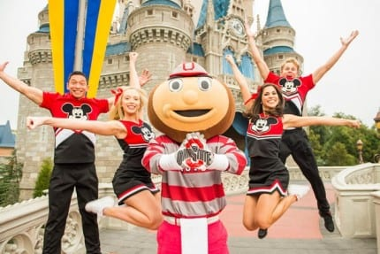 Brutus Buckeye Celebrates Ohio State's Win at Walt Disney World Resort 2