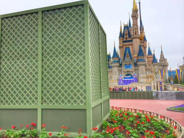 New Construction at the Magic Kingdom, Partners Statue in a box! 1