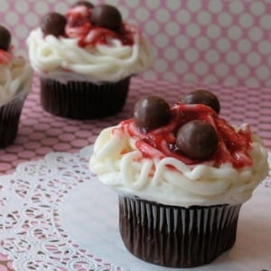Sweetheart Spaghetti and Meatball Cupcakes ~ Make Your Own! 3