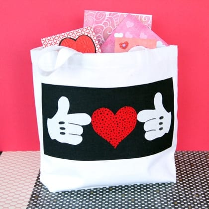 Mickey's Valentine Tote ~ Cute Craft Idea! 3