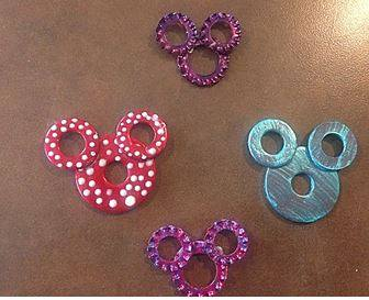 Mickey/Minnie Washer Necklaces ~ Super Cute and Easy Craft! 6