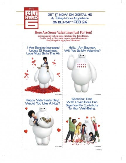 Print Your Own Big Hero 6 Valentines Day Grams The Main Street – Print Your Own Valentines Card