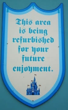 Walt Disney World and Disneyland Refurb List Released 2/9/15 12