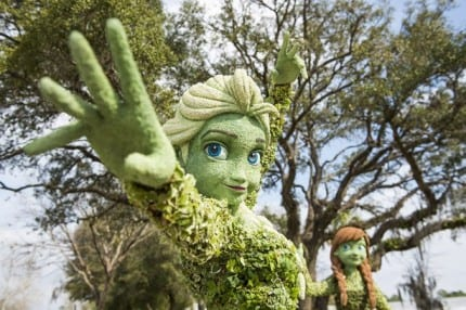 First Look at Anna & Elsa Topiaries for the Epcot International Flower & Garden Festival 22