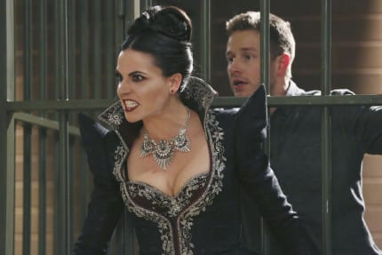 Once Upon a Time's Evil Queen on Fun On-Set Moments and Fish and Chips 5