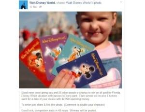 Walt disney world facebook cruise giveaways