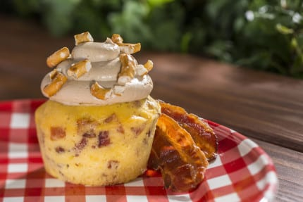 Outdoor Kitchen Offerings at Epcot International Flower & Garden Festival: Piggylicious Bacon Cupcake