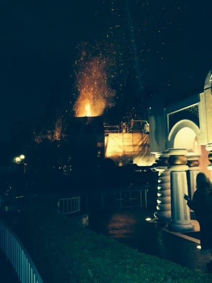 Firefighters Extinguish Fire Near Disneyland's It's a Small World Attraction 8