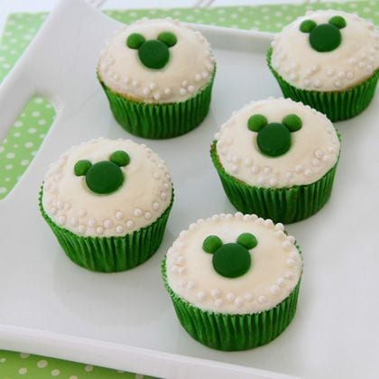 Adorable Mickey St. Patrick's Day Cupcakes! 1