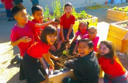 Students Harvest First Crop from Walt Disney Elementary School Teaching Garden Funded by Disneyland Resort 1