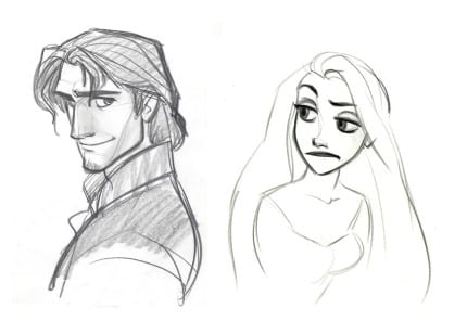 Tangled-Flynn-and-Rapunzel-Concept-Art