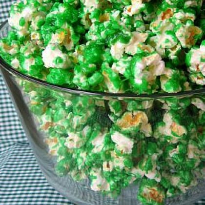 Green Candied Popcorn 7