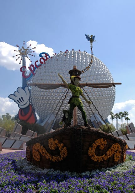 Disney Days of Past: Pirate Ships at Epcot International Flower & Garden Festival 1