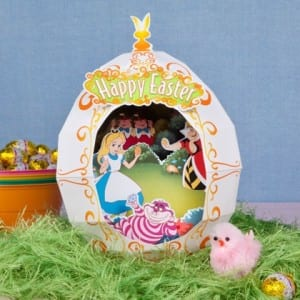 Alice In Wonderland Easter Egg Diorama Craft Idea