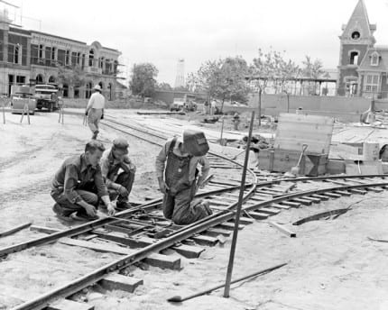 Building the Dream: The Making of Disneyland Park – Main Street Trolley Tracks 2