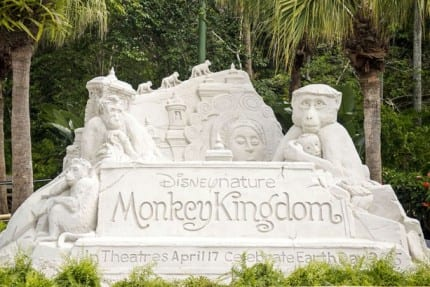 Disney's Animal Kingdom Celebrates Upcoming 'Monkey Kingdom' Film with Giant Sand Sculpture 3
