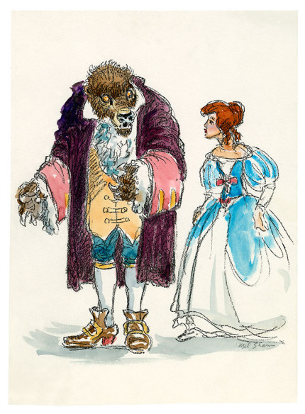 16 Pieces of Enchanting Concept Art from Beauty and the Beast 12