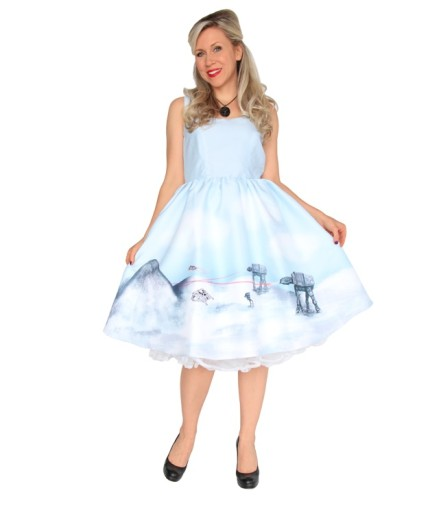 Hoth Dress - Who knew that Hoth could make for such a dreamy dress?