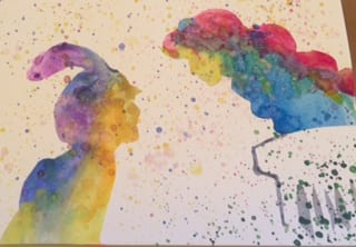 Make Your Own Disney Colorful Silhouette Paintings 3
