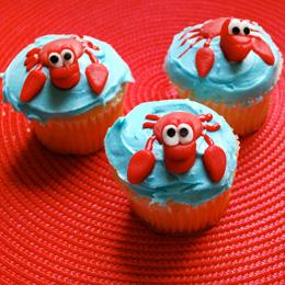 Sebastian, Little Mermaid Themed Cupcakes! 23