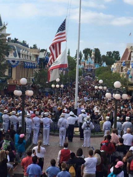 Memorial Day Flag Retreat Ceremony at Disneyland Park Honors Fallen Soldiers 1