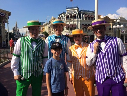Helping the Dapper Dans at the Magic Kingdom! (video included) 3
