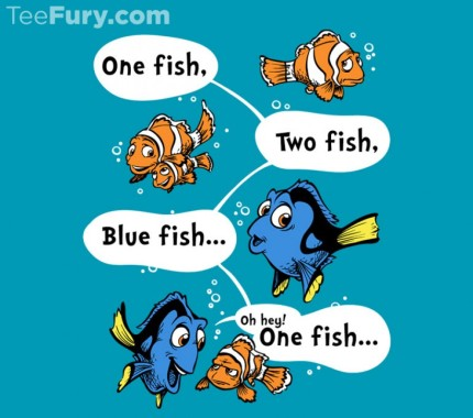 Finding Nemo And Dr. Seuss Mashup Shirt Today Only From TeeFury 2