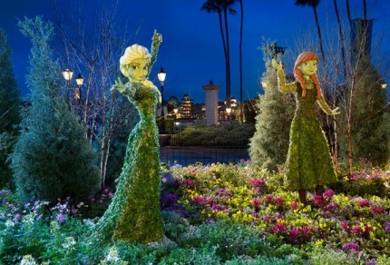 Behind the Scenes: Creating Anna & Elsa Topiaries for the Epcot International Flower & Garden Festival 22