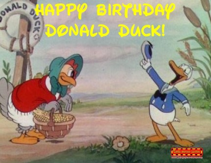 Happy 81st Birthday Donald Duck! 1