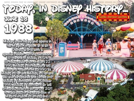 Today In Disney History ~ June 18th 1