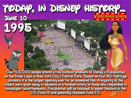 Today In Disney History ~ June 10th 1