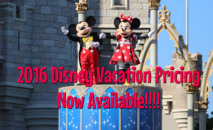 2016 Disney Vacation Pricing Is Now Available!!! 4
