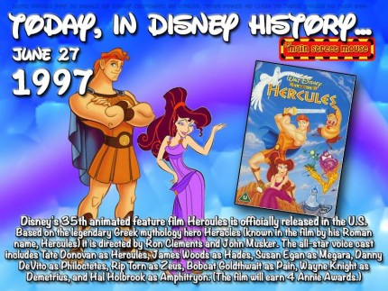 Today In Disney History ~ June 27th 7