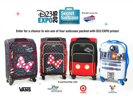 Enter the D23 EXPO Secret Suitcase Sweepstakes 2