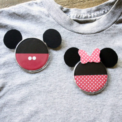 Mickey & Minnie DIY Buttons 9