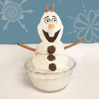Olaf Ice Cream Dessert! Make your own! 18