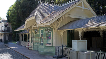 Sounding Off at the New Orleans Square Train Station Telegraph Cable Office at Disneyland Park 16