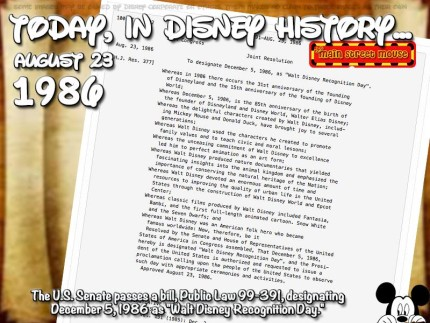 Today In Disney History ~ August 23rd 3