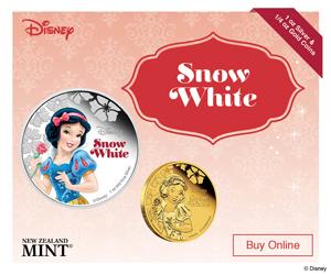 Disney Princess Snow White Limited Edition 1 oz Silver Coin / ¼ oz Gold Coin 17