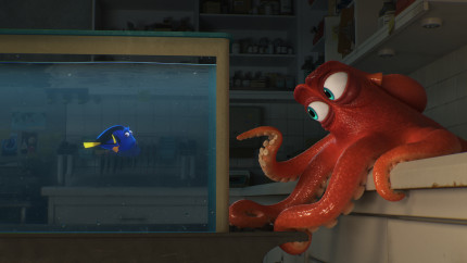 "DO I KNOW YOU? -- In Disney•Pixar's ""Finding Dory,"" everyone's favorite forgetful blue tang, Dory (voice of Ellen DeGeneres), encounters an array of new—and old—acquaintances, including a cantankerous octopus named Hank (voice of Ed O'Neill). Directed by Andrew Stanton (""Finding Nemo,"" ""WALL•E"") and produced by Lindsey Collins (co-producer ""WALL•E""), ""Finding Dory"" swims into theaters June 17, 2016."