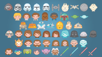 Cosmically Cute: Talking Star Wars Emojis With Artist 100% Soft 8