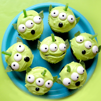 Toy Story Green Alien Cupcakes ~ Recipe 20