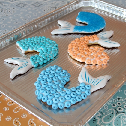 Pirates of the Caribbean Mermaid Tail Cookies! 1