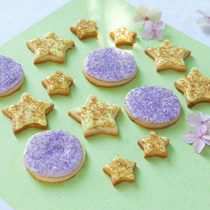 Pixie Party Purple Moon and Gold Star Iced Cookies 5